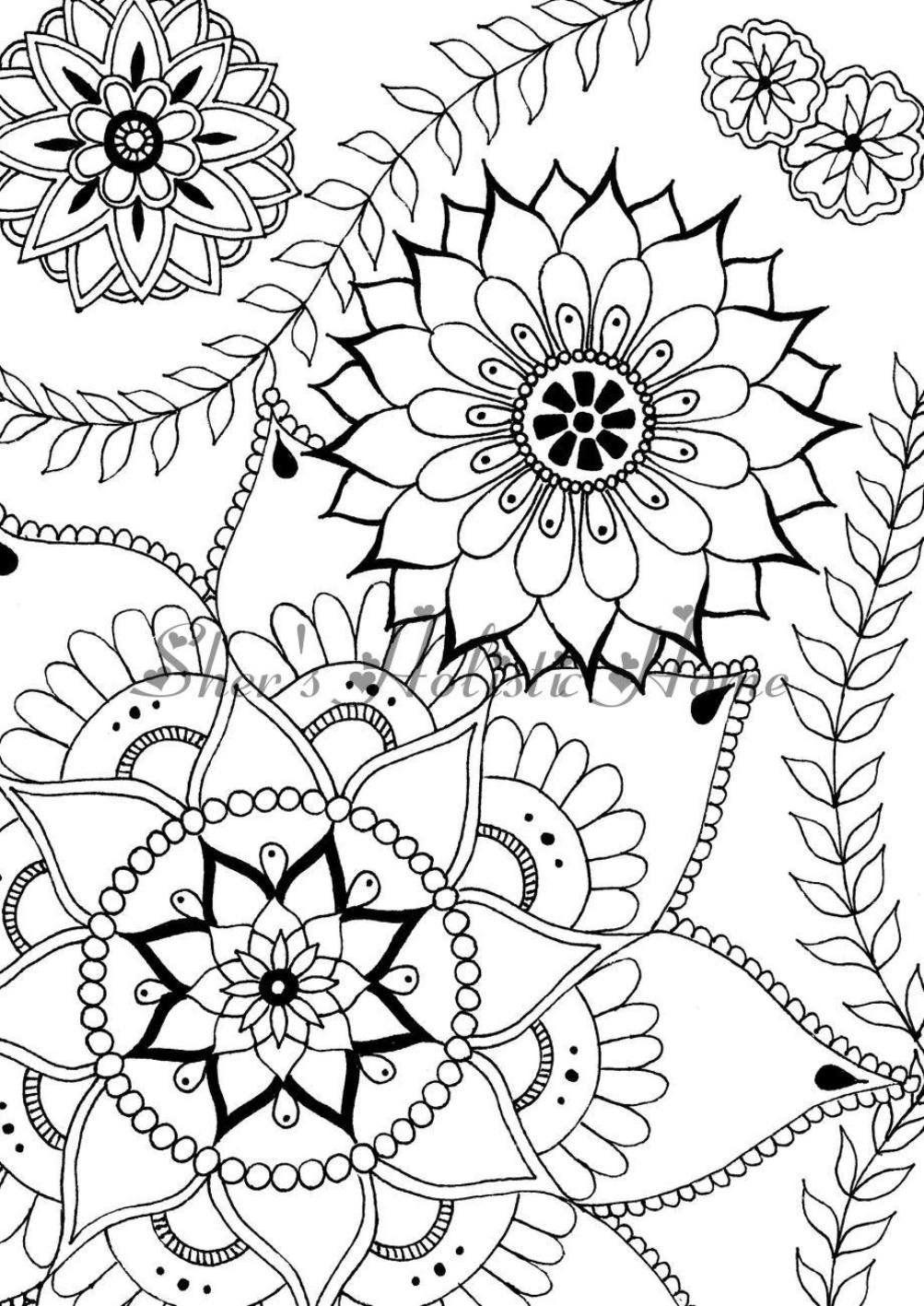 Flower Coloring Page, Mandala Coloring Page, Flower à Dessin De Fleure