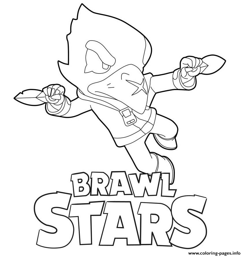 Flying Crow Brawl Stars Coloring Pages Printable encequiconcerne Coloriage Brawl Stars