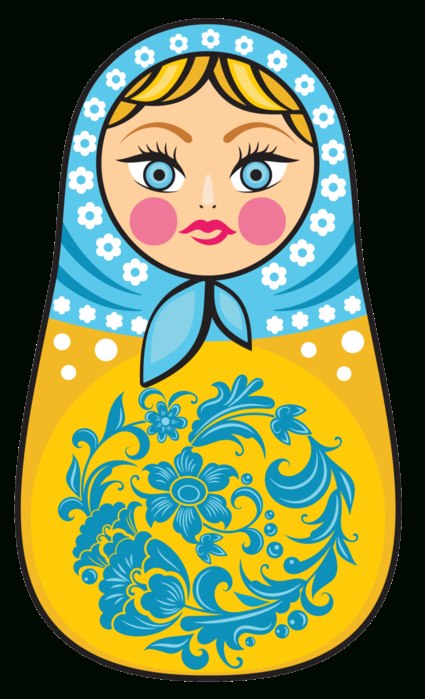 For My Handicrafts. Printable Matryoshka Russian Doll. dedans Coloriage Poupée Russe