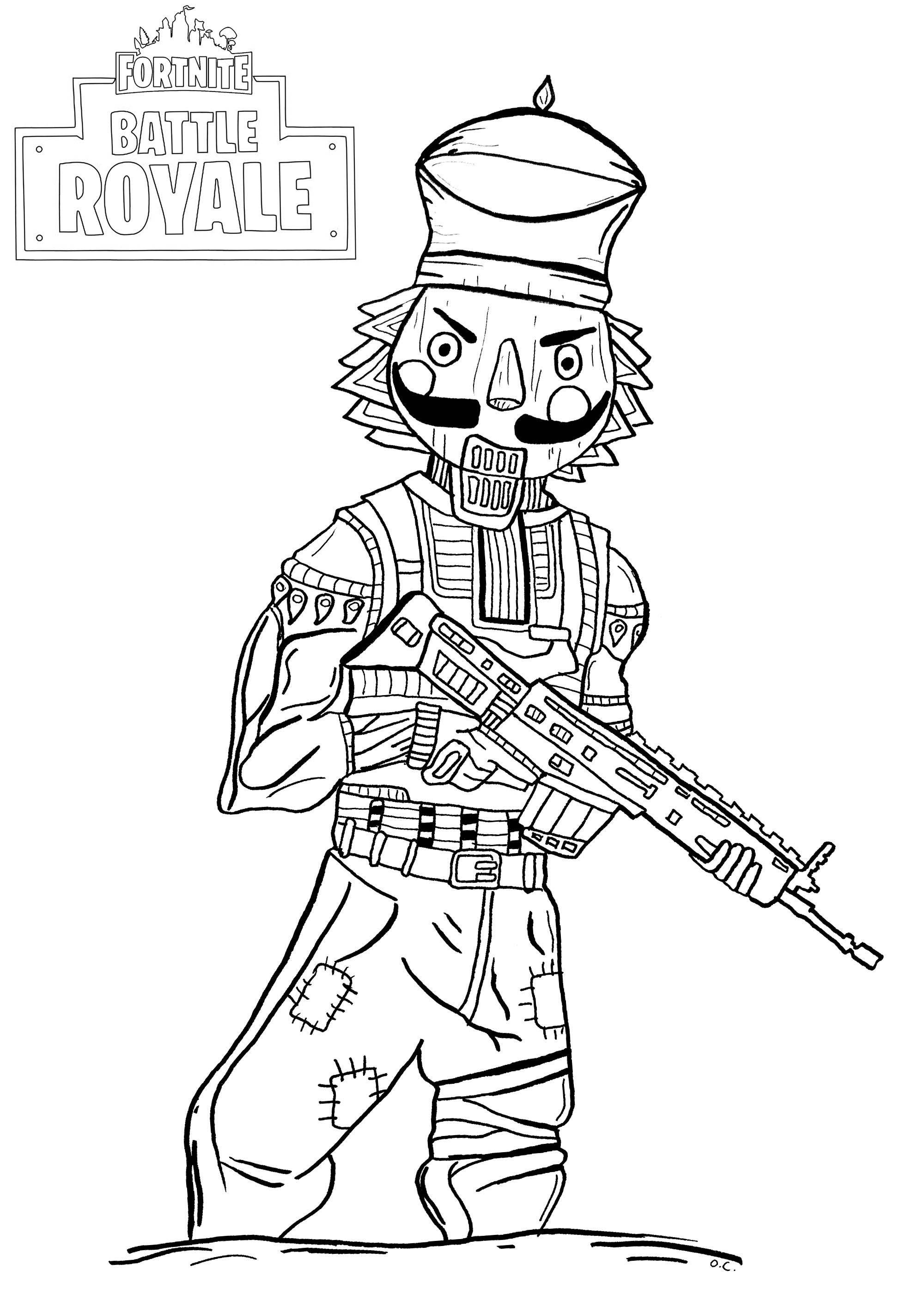Fortnite Battle Royale : Crackshot - Coloriage Fortnite avec Coloriage A Imprimer Fortnite