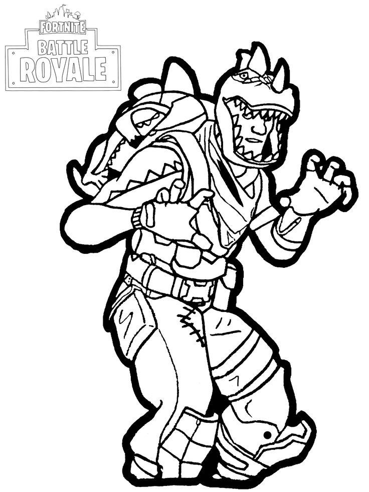 Fortnite Battle Royale : Rex - Legendary Costume For The à Coloriage Fortnite A Imprimer