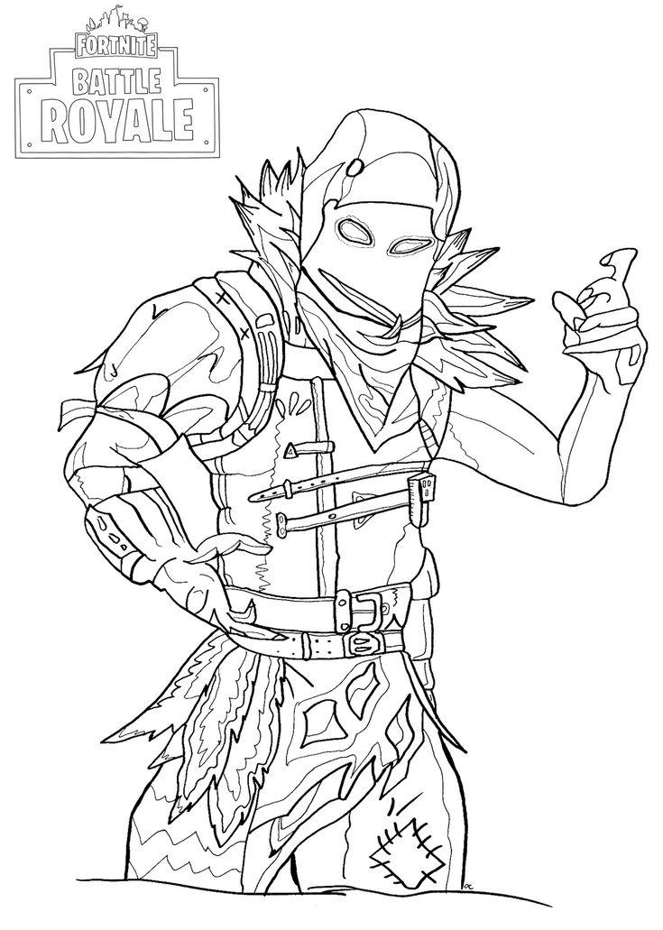 Fortnite Raven Coloring Page   Fortnite Battle Royale avec Colloriage