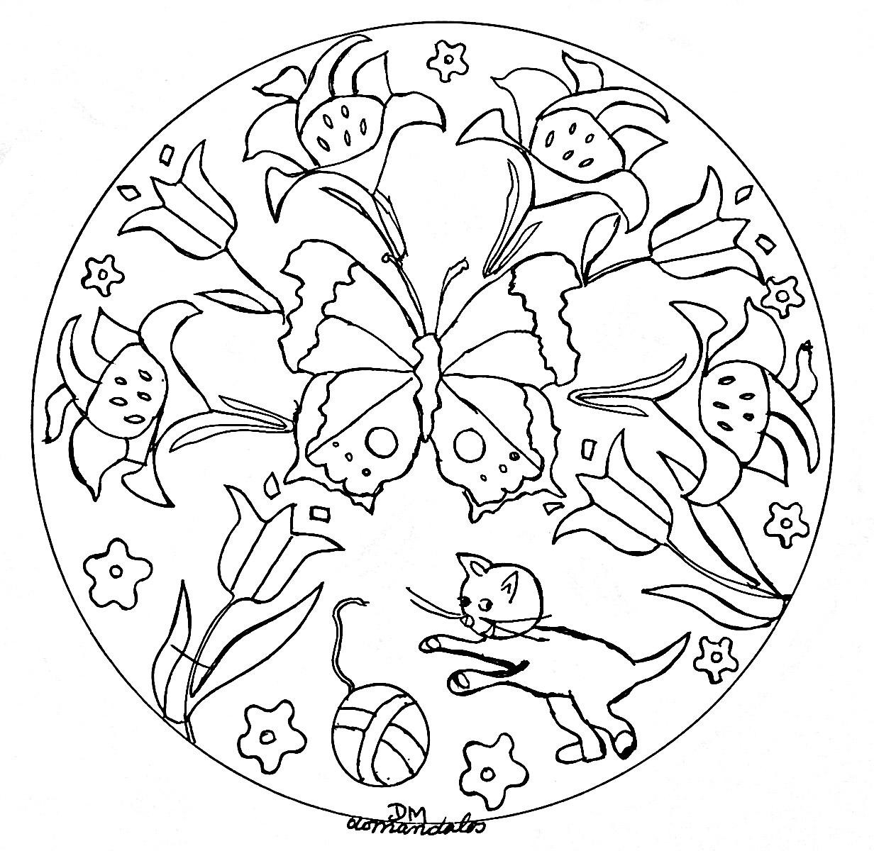 Frais Coloriage A Imprimer Mandala Facile | Imprimer Et concernant Papillon Dessin Facile
