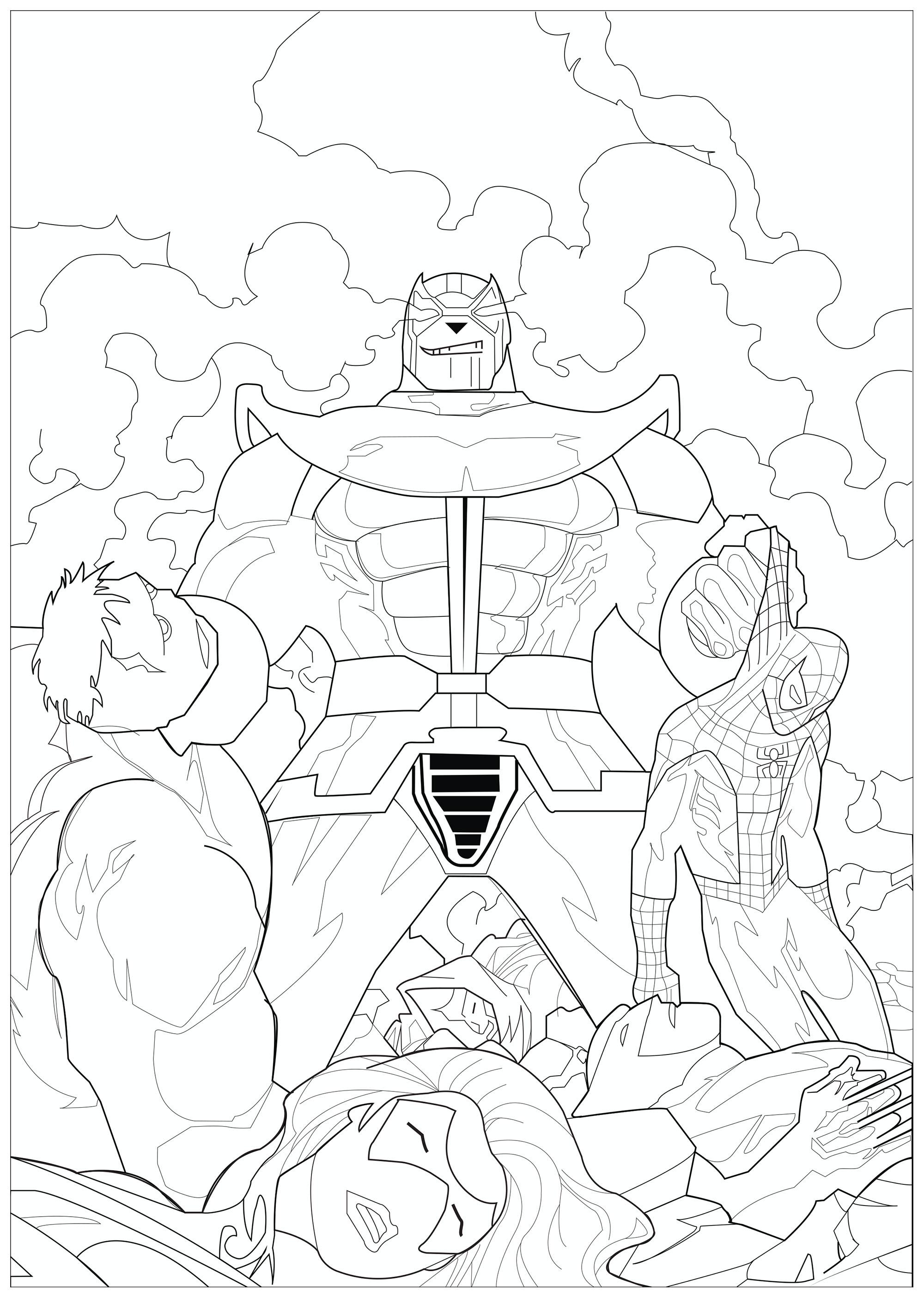 Frais Dessin A Colorier A Imprimer Avengers à Coloriage Marvel