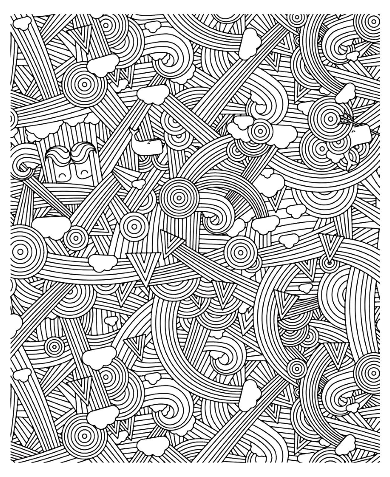 Free Coloring Page «Coloring-Adult-Zen-Anti-Stress-To tout Coloriage Anti Stress Adulte