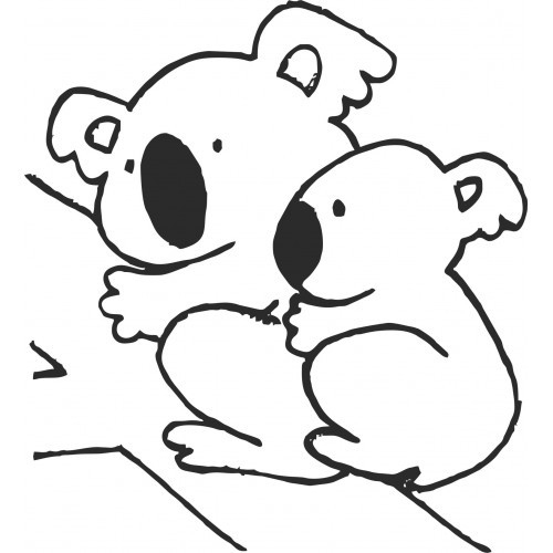 Free Koala Outline, Download Free Clip Art, Free Clip Art tout Coloriage De Koala