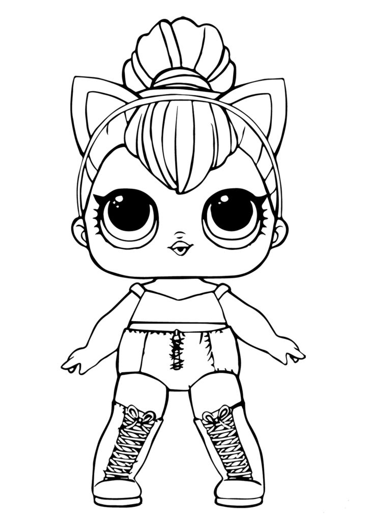 Free Lol Doll Coloring Sheets Kitty Queen | Unicorn serapportantà Coloriag