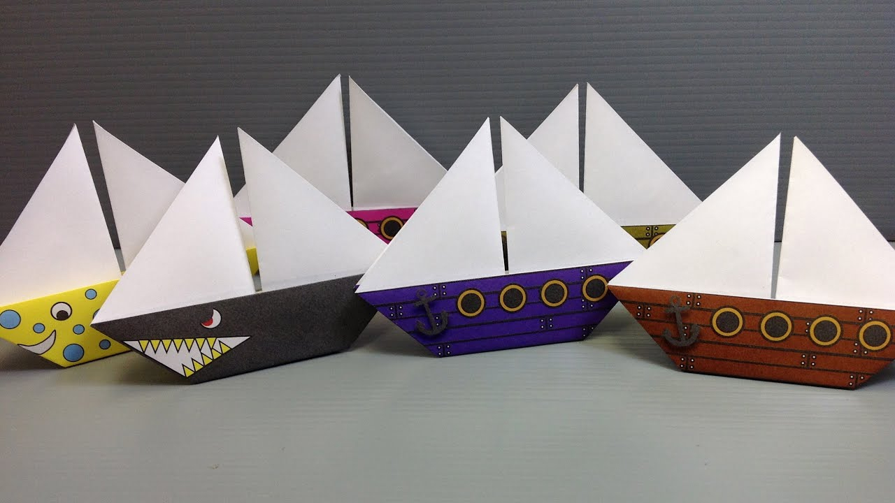 Free Origami Sailboat Paper - Print Your Own! - Pirate And dedans Fabriquer Un Bateau Pirate