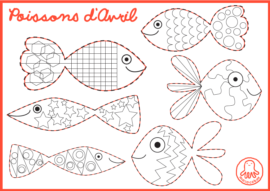 Free Printable For Kids, Poissons D'Avril, Enfants serapportantà Poisson Avril Coloriage