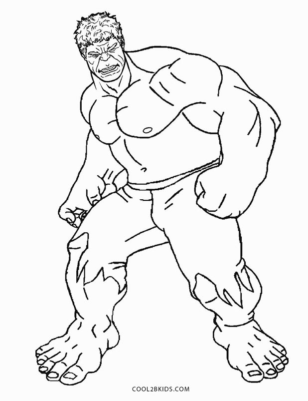 Free Printable Hulk Coloring Pages For Kids | Cool2Bkids pour Coloriage Hulk