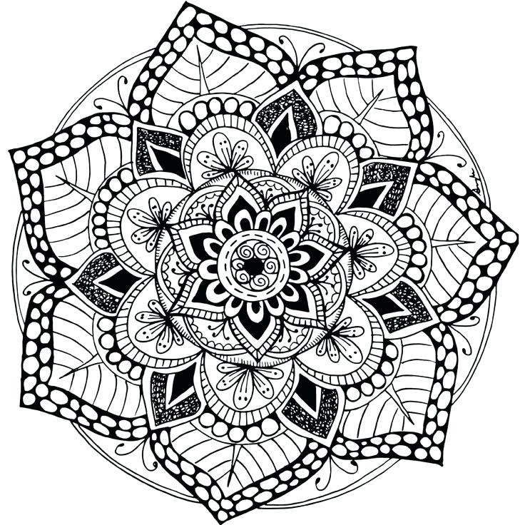 Free Printable Mandala Coloring Pages For Adults pour Mandala A Dessiner