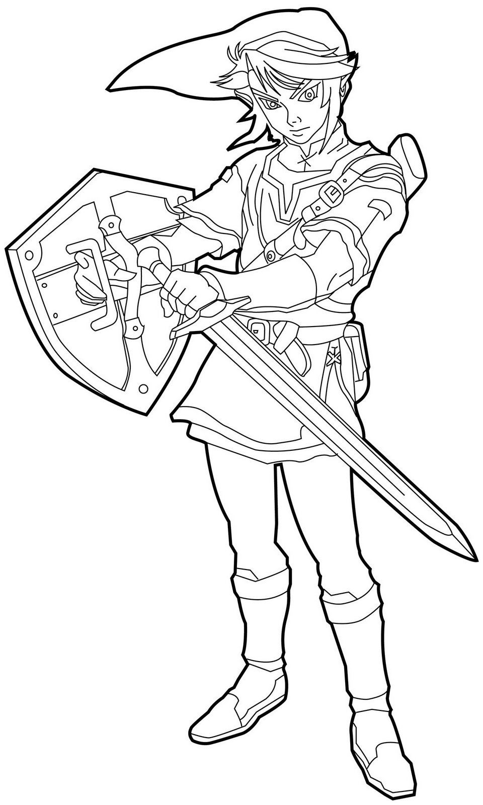 Free Printable Zelda Coloring Pages For Kids dedans Coloriage Zelda Twilight Princess