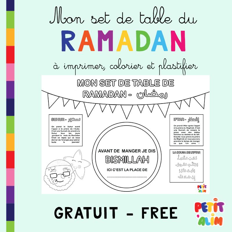 Freebies: Mon Set De Table Du Ramadan ! - Petit 'Alim concernant Coloriage Ramadan Imprimer