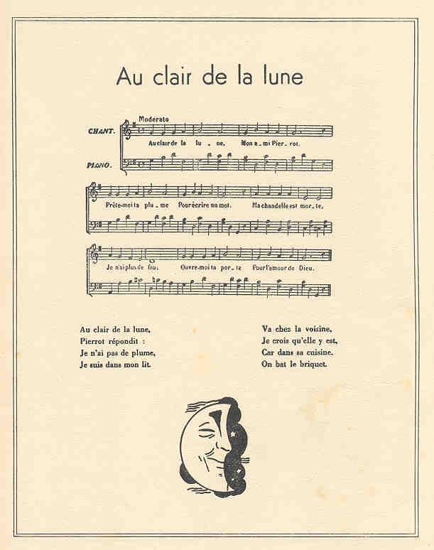 French Children'S Prints - Maurice Berty (C. 1930S) encequiconcerne Claire De La Lune Lyrics