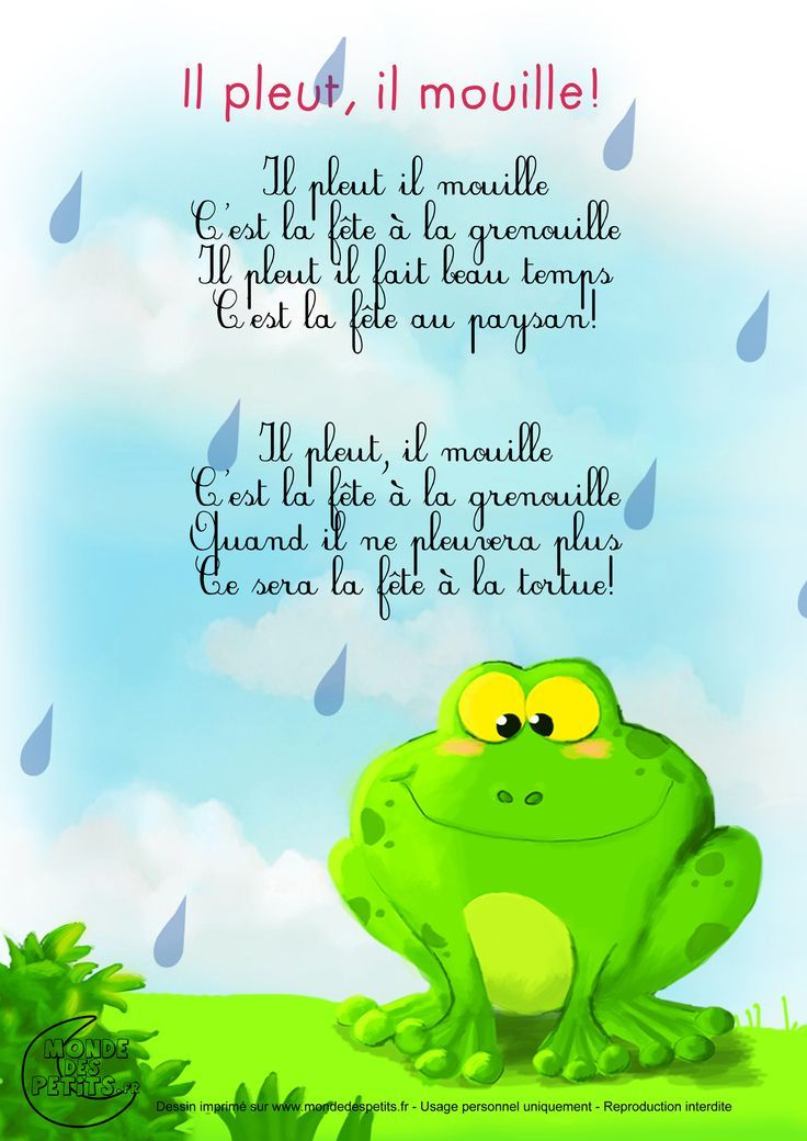 French Nursery Rhyme - Perfect For Studying The Weather intérieur Comtine Bebe