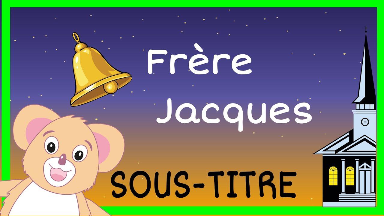 Frère Jacques Comptine + Paroles - destiné Dormez Vous Frere Jacques