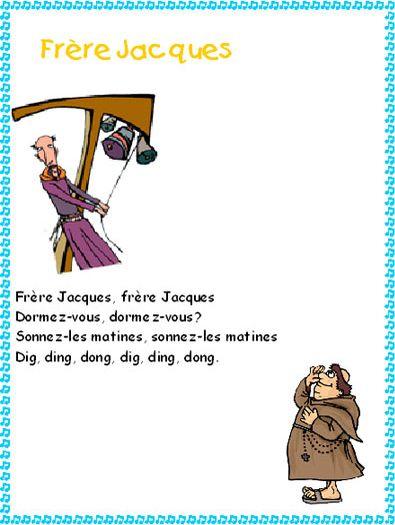 Frere Jacques - Paroles De Chanson Avec Tête À Modeler avec Dormez Vous Frere Jacques