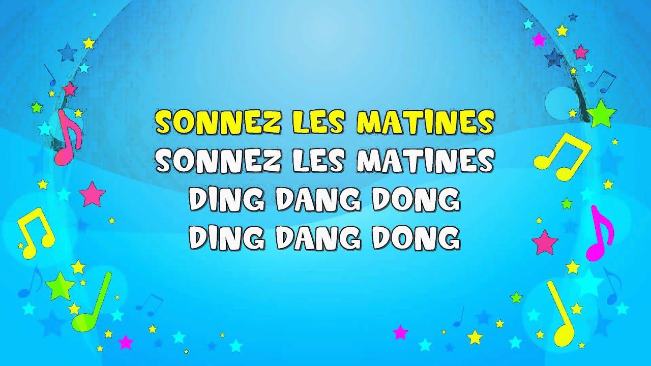 Frere Jacques   Sing A Long   Frère Jacques   Nursery tout Dormez Vous Frere Jacques
