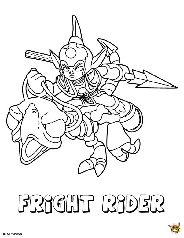 Fright Rider Est Un Coloriage De Skylanders serapportantà Coloriage Skylanders Trap Team A Imprimer Gratuit