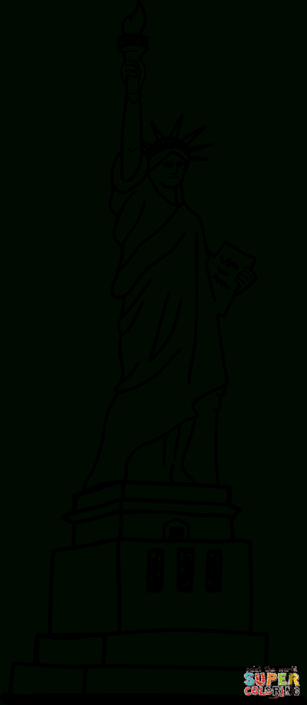 Frihetsgudinnan Målarbok | Gratis Målarbilder Att Skriva Ut avec Statue De La Liberté Dessin