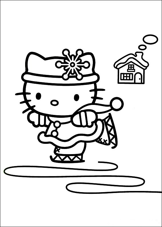 Fun Coloring Pages: Hello Kitty Winter Coloring Pages concernant Dessin À Imprimer Hello Kitty