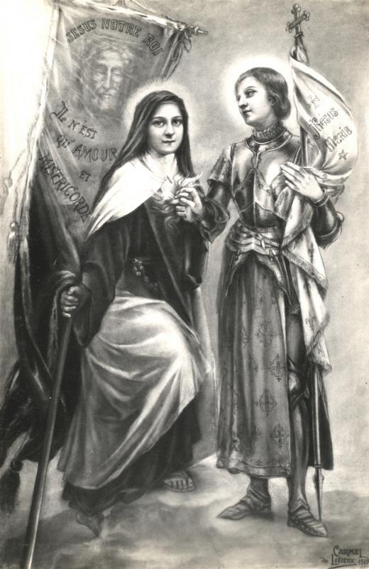 Fusain Thérèse Et Jeanne D'Arc / Charcoal Therese & Joan encequiconcerne Dessin Magique Ste Jeanne D'Arc