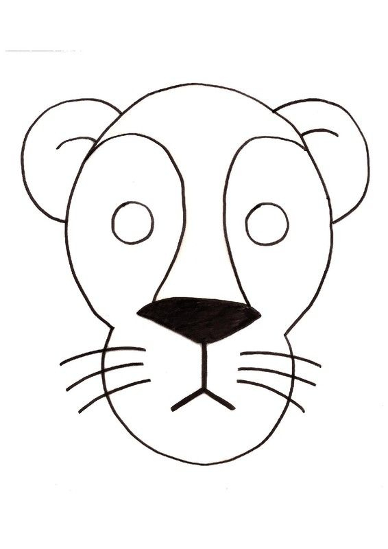 Gabarit - Masque De Lion | Masque Lion, Tete De Lion concernant Masque D Animaux À Colorier