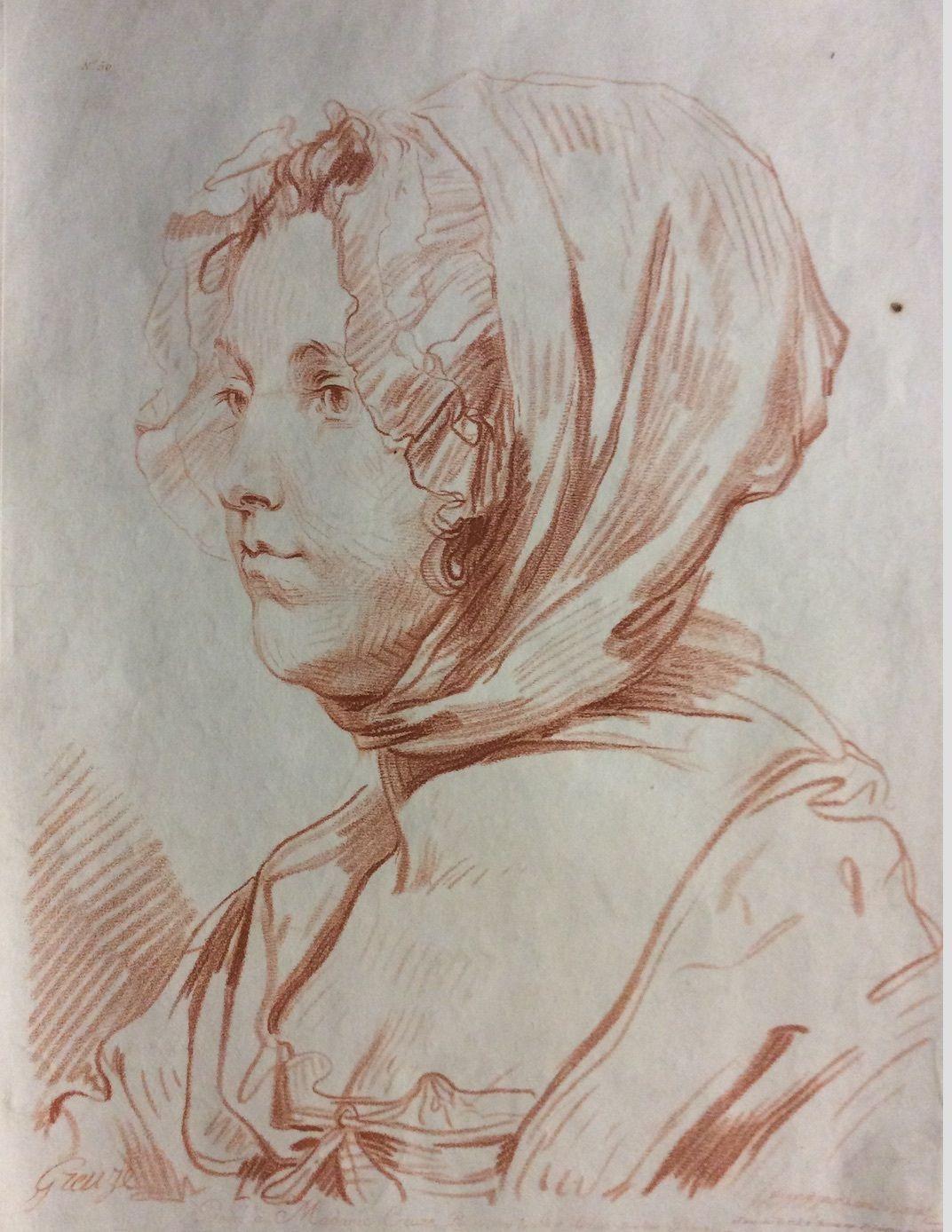 Galerie Nord: Madame Greuze, Gravée Par Louis-Marin Bonnet intérieur Dessin De Vieux Monsieur