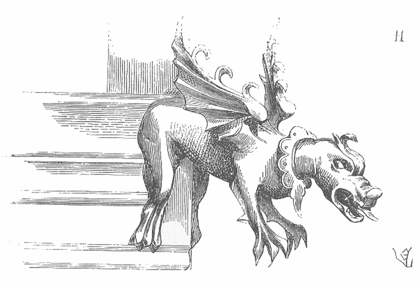 Gargouille Dans La Mythologie - Page 2 destiné Dessin Gargouille