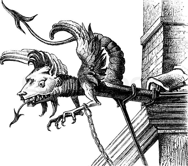 Gargoyle Of The Sixteenth Century, A Neuchatel Switzerland encequiconcerne Dessin Gargouille