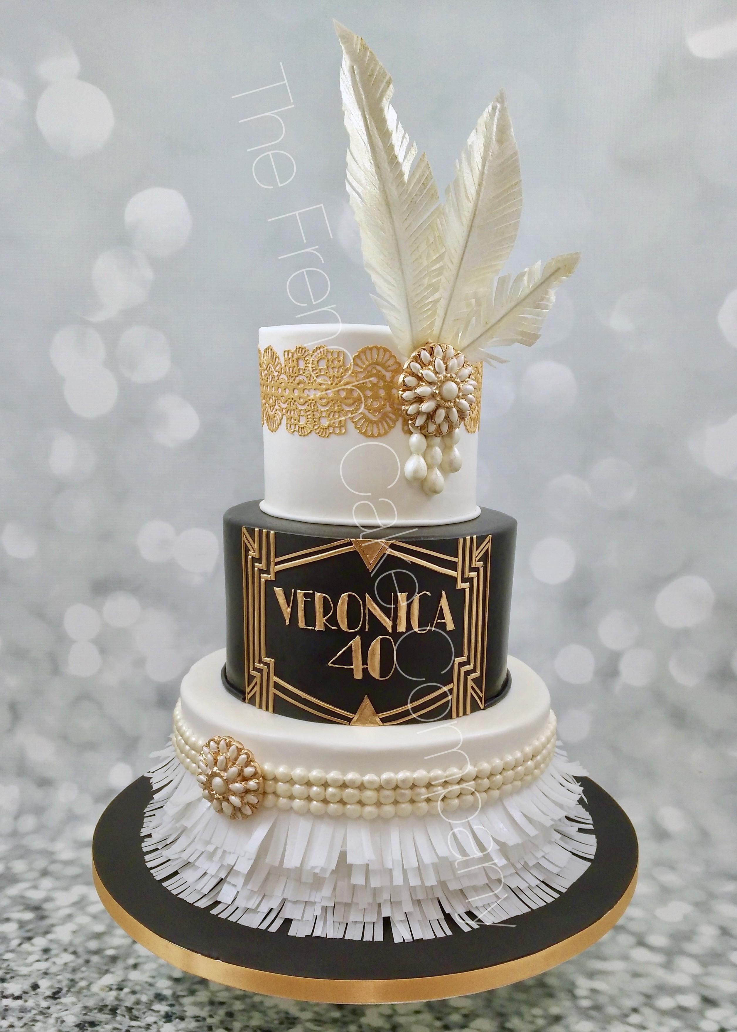 Gâteau 40 Ans Thème Gatsby - The French Cake Company encequiconcerne Dessin Gateau Anniversaire 40 Ans