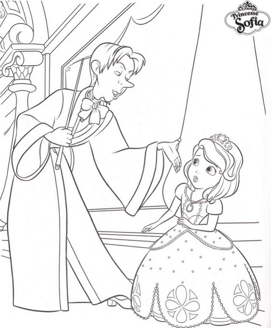 Génial Coloriage Princesse Sofia Et Sa Famille | Des à Coloriage En Ligne Princesse Sofia