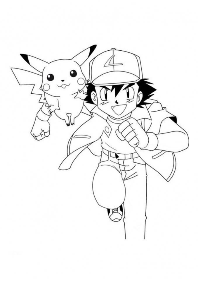 Get This Ash And Pikachu Coloring Pages 7Ajd0 pour Coloriage A Imprimer Pokemon Pikachu