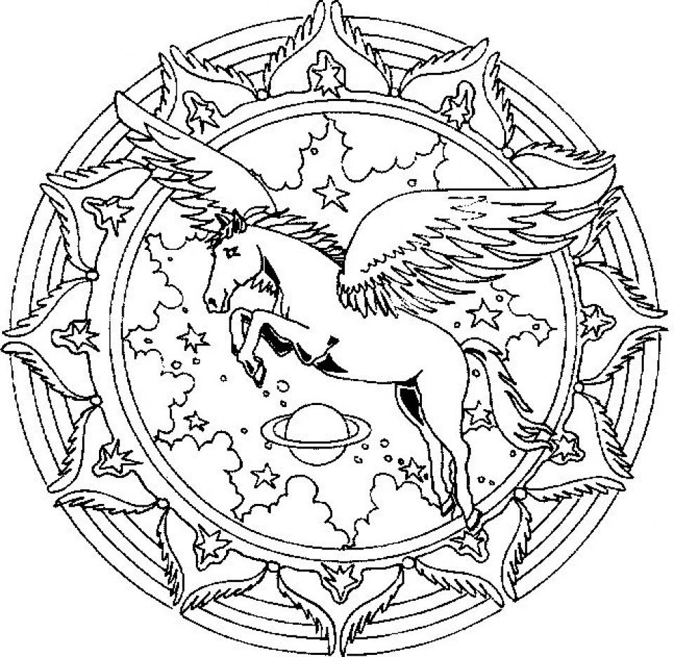 Get This Free Printable Unicorn Coloring Pages For Adults concernant Licorne Coloriage