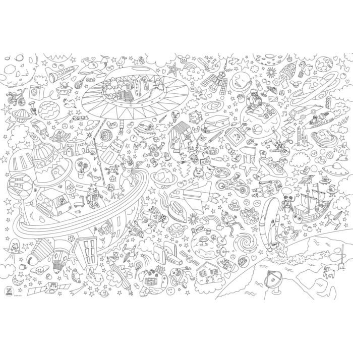 Giant Coloring Cosmos Poster Omy For Girls And Boys tout Coloriage Poster