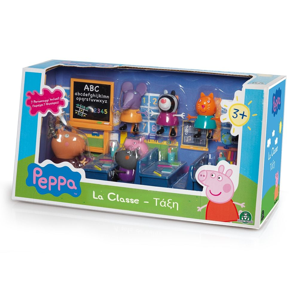 Giochi Preziosi - Salle De Classe Et 7 Personnages - Peppa serapportantà Jeux De Peppa Pig A La Piscine
