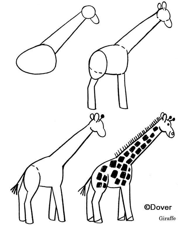 Girafe | Giraffe Dessin, Apprendre Le Dessin serapportantà Dessin Girafe Simple
