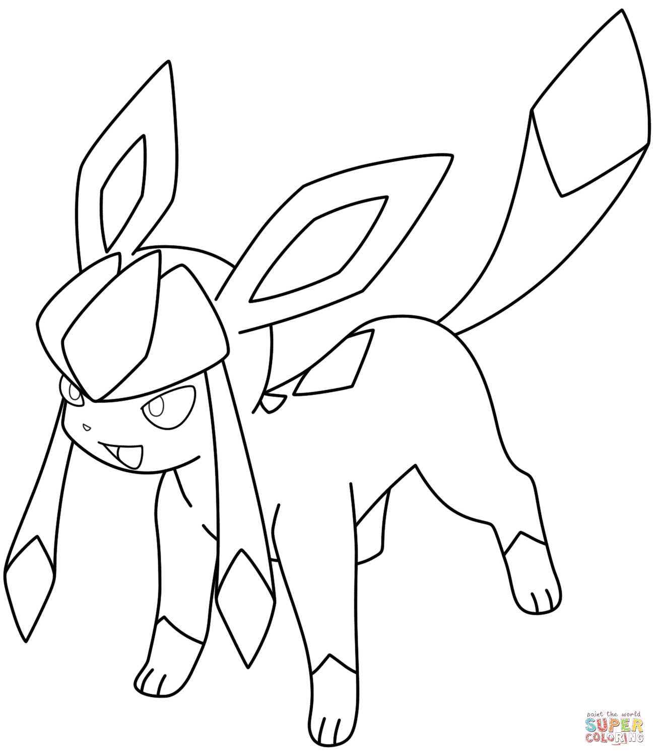 Glaceon Pokemon Coloring Page | Pokemon Coloring Pages avec Coloriage Pokemon Evoli