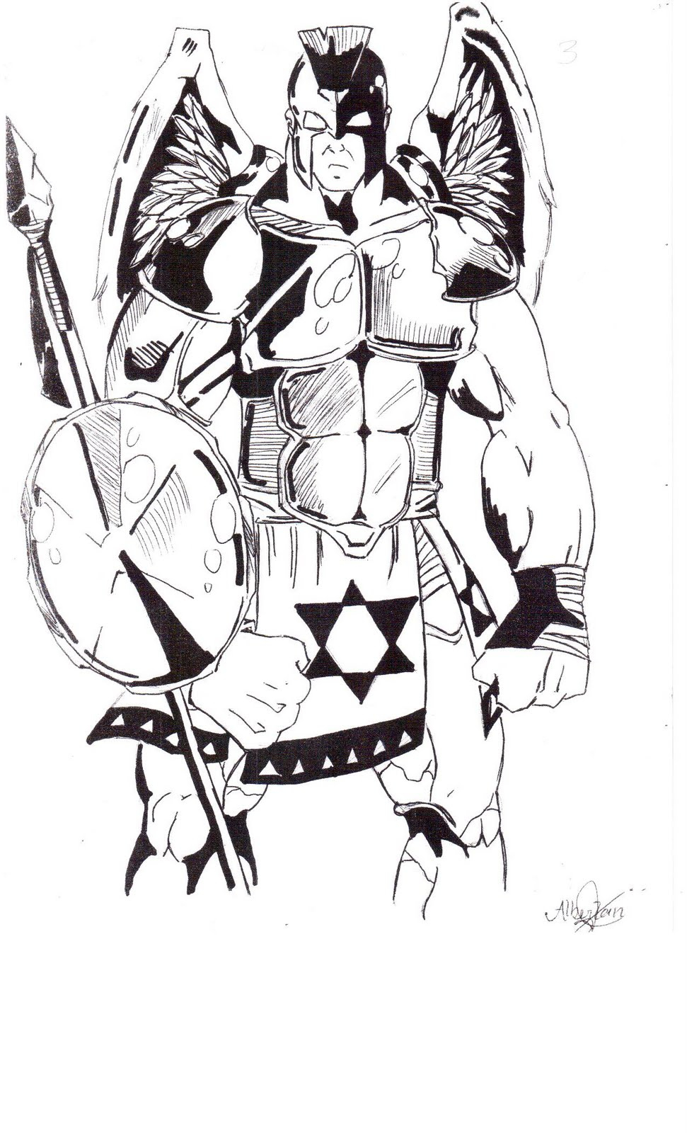 Gladiadores ~ Alberlan Desenhos Mangá pour Gladiateur Dessin