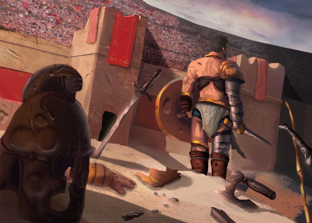 Gladiateur Arène - Dessin De Saga Posté Sur Tvhland serapportantà Gladiateur Dessin