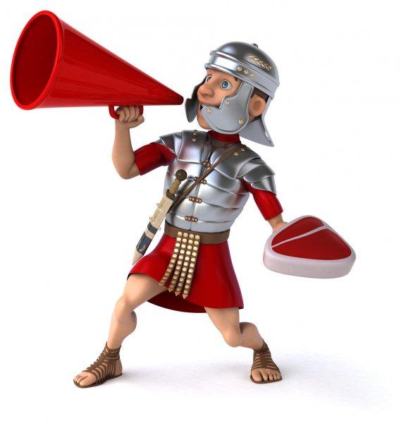 Gladiateur De Dessin Animé — Photographie Davisales © #5818869 pour Gladiateur Dessin