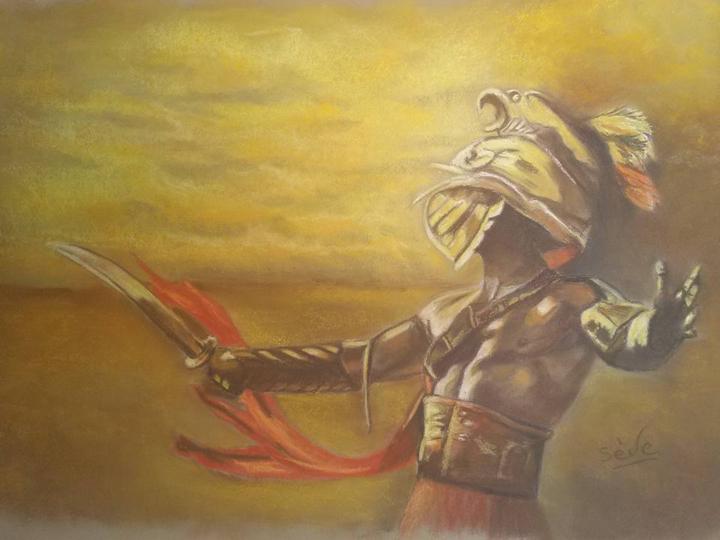 Gladiateur Dessin Par Séverine Plaisance | Artmajeur avec Gladiateur Dessin