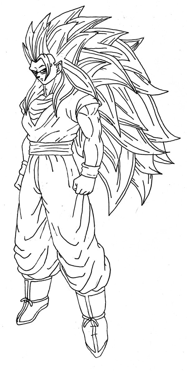 Goku And Vegeta Fusion Coloring Pages Coloring Pages serapportantà Coloriage Dragon Ball Z Super Saiyan A Imprimer