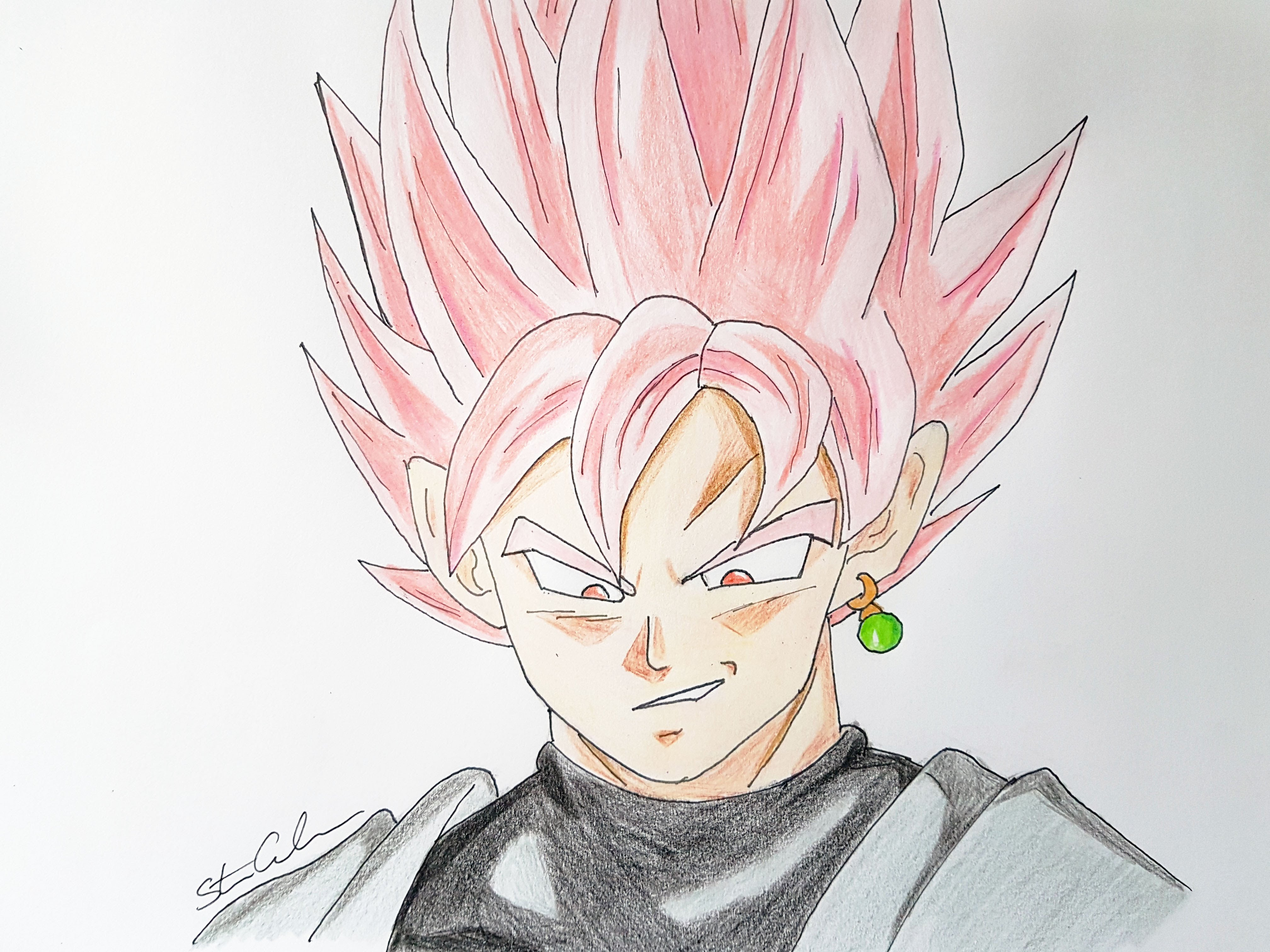 Goku Face Drawing At Getdrawings | Free Download destiné Rose Facile A Dessiner