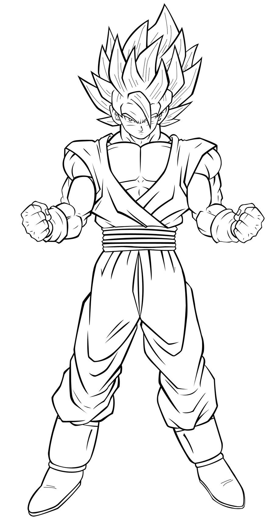 Goku Super Saiyan 4 Coloring Pages Images | Coloriage tout Coloriage Dragon Ball Z Super