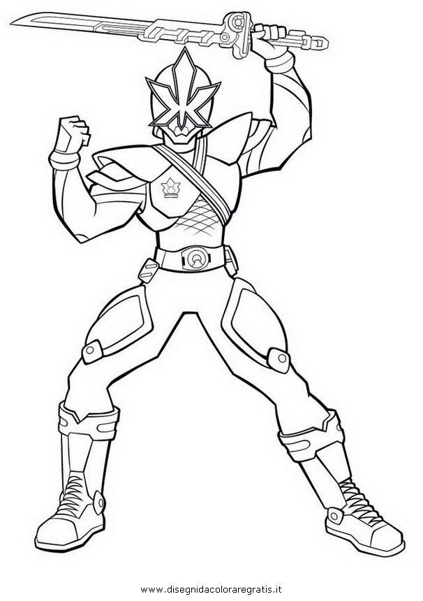 Gold Power Ranger Samurai Coloring Coloriage - Az concernant Coloriage Power Rangers A Imprimer