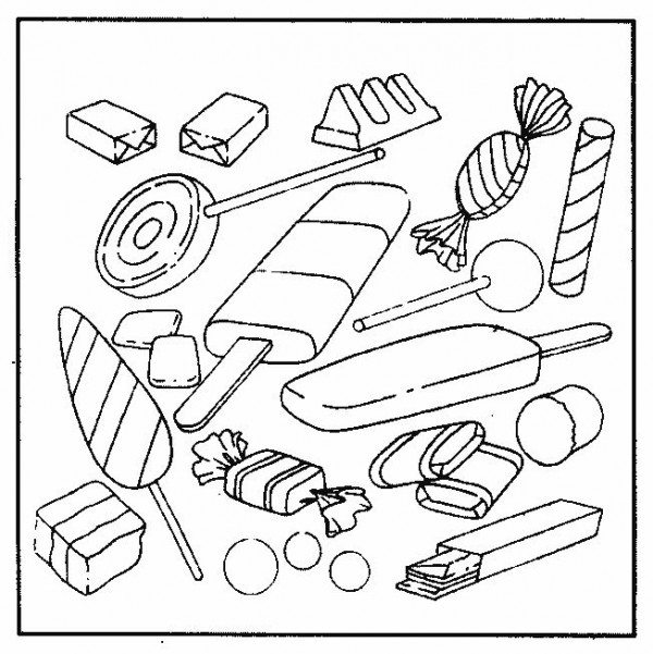 Golosinas Para La Semana De La Dulzura – Dibujos Para serapportantà Coloriage Bonbons