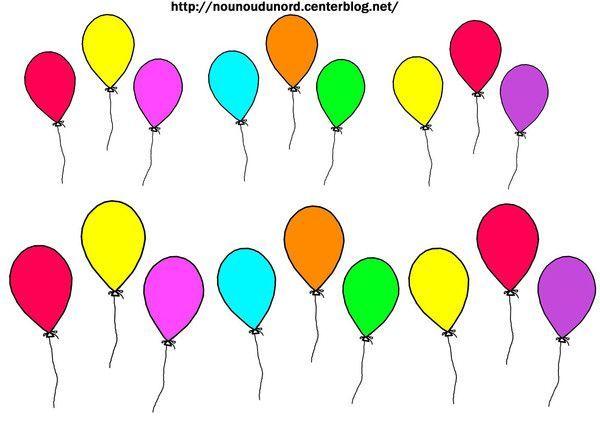 Gommettes Ballons intérieur Dessin Ballon Baudruche