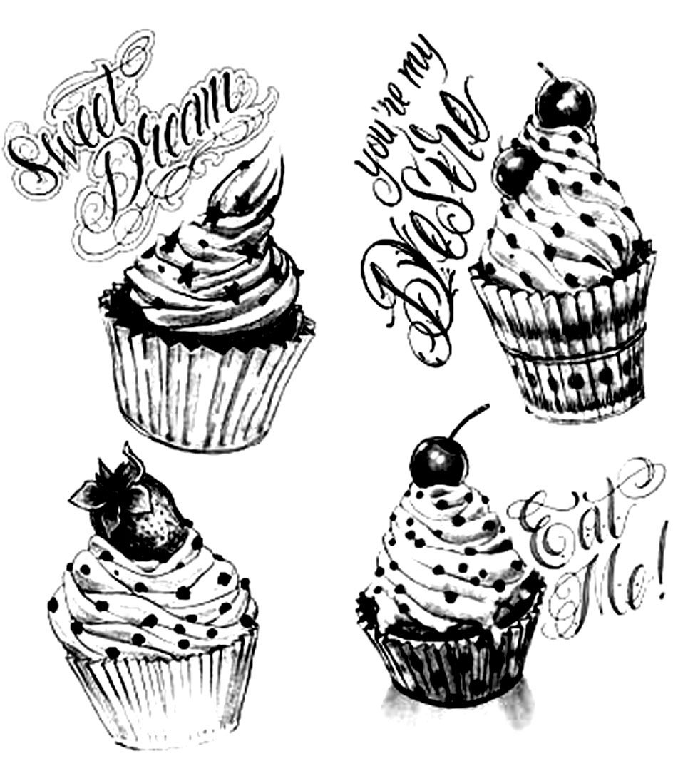 Gourmet Cupcakes - Cupcakes And Cakes Coloring Pages For avec Coloriage De Cupcake