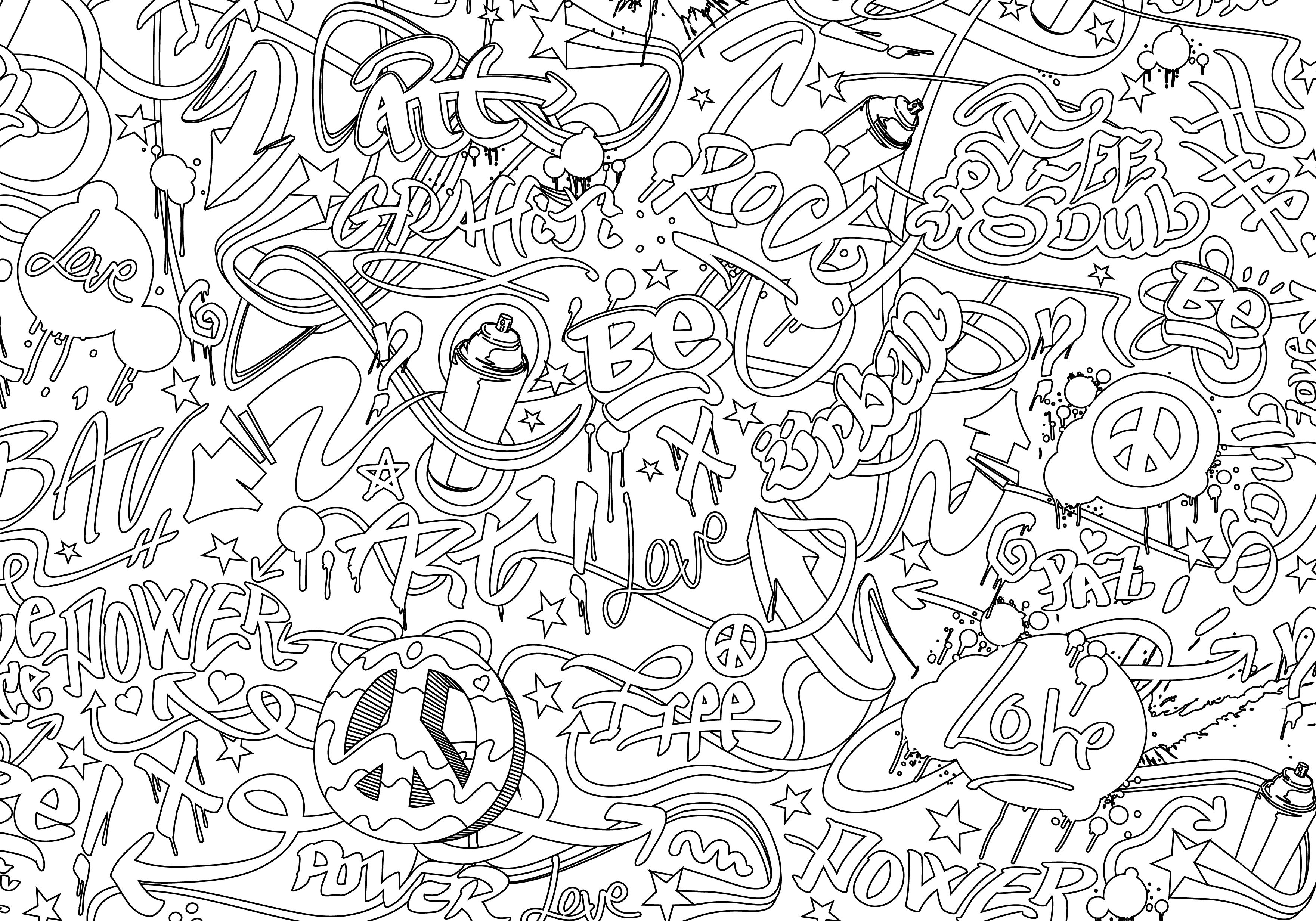 Graffiti | Coloring Books pour Coloriage Tag Graffiti